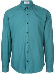 Cerruti 1881 Classic Long Sleeved Shirt Cotton Xl Green