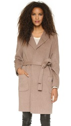 Maison Scotch Wrap Wool Coat Tan