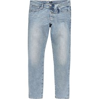River Island Mens Blue Acid Wash Design Forum Jeans