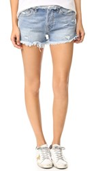 Nsf Drai Frayed Cutoff Shorts Frayed Indigo