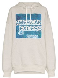 Ashish American Excess Sequin Embellished Cotton Hoodie Grey