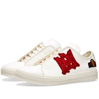 Alexander Mcqueen Canvas Patch Sneaker White