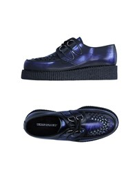 Underground Lace Up Shoes Blue