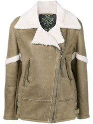 Mr And Mrs Italy Fur Trimmed Jacket 60
