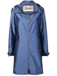 Herno Raincoat Blue