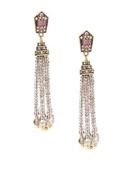 Heidi Daus Crystal Tassel Dangle And Drop Earrings Pink