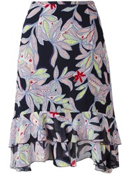 See By Chloe Floral Pattered Skirt Blue