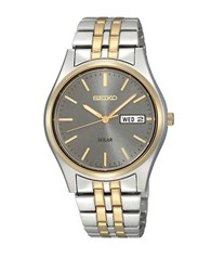Seiko Mens Two Tone Functional Solar Watch