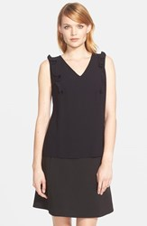Women's Kate Spade New York Ruffle Front Sleeveless Top Black
