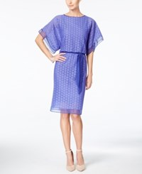 Styleandco. Style And Co. Circle Lace Kimono Sleeve Blouson Dress Only At Macy's Antique Purple