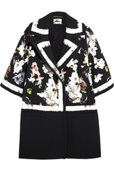 Erdem Jaidee Printed Stretch Crepe Coat