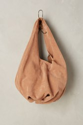 Anthropologie Suede Tote Rose