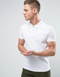 Selected Homme Popper Polo White