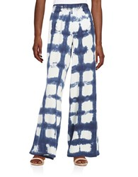 Splendid Wide Leg Tie Dye Pants Navy