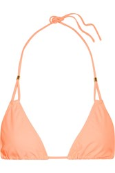 Heidi Klein Bermuda Triangle Bikini Top Peach