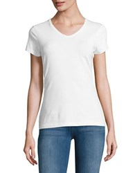 Lord And Taylor Organic V Neck Tee White