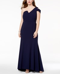 Betsy And Adam Plus Size One Shoulder Gown Night