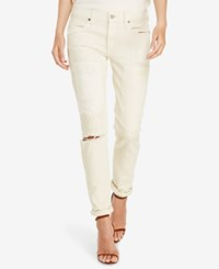 Polo Ralph Lauren Astor Slim Fit Boyfriend Jeans Cream