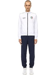 Emporio Armani Team Italia Sweatshirt And Sweatpants White