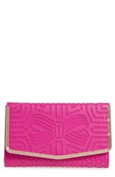 Ted Baker London Bree Laser Cut Bow Leather Clutch