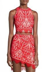 Women's Missguided Lace Sleeveless Crop Top