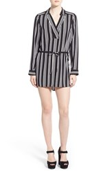 Women's Leith 'Henley' Stripe Shirtdress