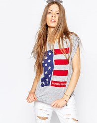 Tommy Hilfiger Hilfiger Denim American Flag T Shirt Grey
