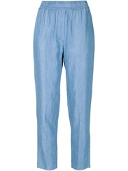 3.1 Phillip Lim Chambray Trousers Blue
