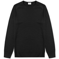 Sunspel Crew Knit Jumper Black