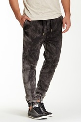 Ezekiel Falkon Acid Wash Drawstring Pant Black
