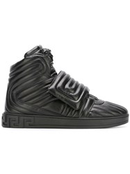Versace Palazzo Medusa Quilted Hi Top Sneakers Black