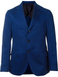 Mp Massimo Piombo Three Button Blazer Blue
