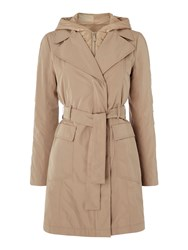 Marella Trench Coat With Zip Out Quilting Brown