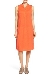 Women's Eileen Fisher Stand Collar A Line Shift Dress Sunburst