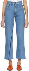 Ports 1961 Blue Contrast Pocket Jeans