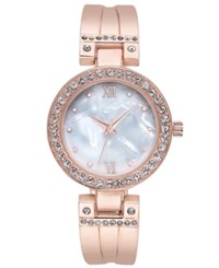 Charter Club Women's Rose Gold Tone Bracelet Watch 32Mm Created For Macy's
