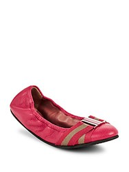 Bally Tippy Leather Flats Pink