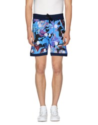 Amaranto Trousers Bermuda Shorts Men Azure