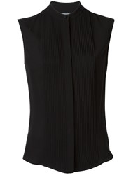 Alexander Mcqueen Sleeveless Ribbed Top Black