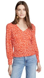 Cupcakes And Cashmere Portia Top Red Hots