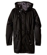 Spyder Rapt Shell Parka Black Image Grey Washed Print Women's Coat