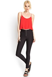 Forever 21 Ribbed Riding Pants Black