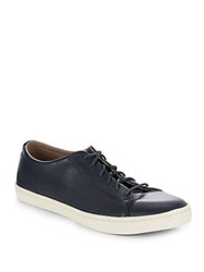 Cole Haan Trafton Cap Toe Leather Sneakers Blue