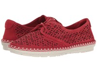 Earth Pax Bright Red Soft Buck Women's Shoes