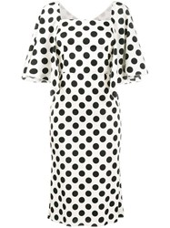 Dolce And Gabbana Polka Dot Midi Dress White