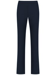Gloria Coelho High Rise Straight Fit Trousers Blue