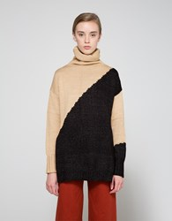 Farrow Lois Turtleneck Sweater Camel Black