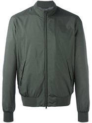 Herno Zipped Bomber Jacket Green