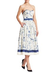 Ralph Lauren Sheena Printed Dress Painterly Stripe