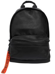 Bikkembergs Hide Faux Leather And Rubber Backpack Black